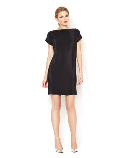 Taylor Silk Shirtdress with Patch Pocket by CrOp by David Peck at Gilt $99