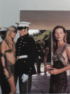 """An Interpretation"", Vogue Italia, July 1997   Photographer: Steven Meisel   Models: Carly Hanger, Kate Moss"