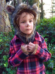 Werewolf Halloween Costume kids costume hood boys by BooBahBlue