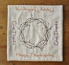 Happy Thanksgiving Candle Mat Give Thanks by RyensMarketplace