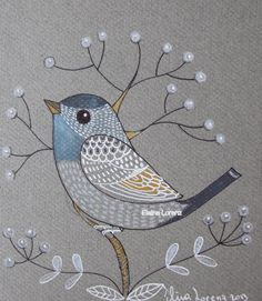 Grey Bird/ Bird Art / Bird Painting / Drawing / by sublimecolors, $26.99