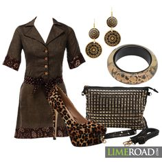Our Scrapbooker Sumana has given a festive twist to western wear by using Gold and Brown !