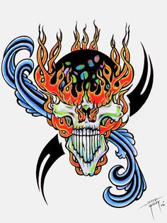 I created this as a tattoo design, in my tattooing period of life.