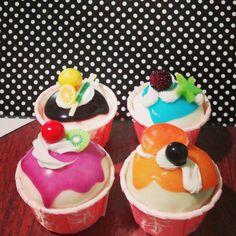 Cupcakes decorativos para enfeitar e perfumar o ambiente *----*