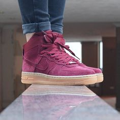 nouveau style 4e2d0 bc43c nike air force 1 high suede team red
