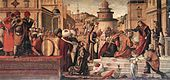 St. George Baptizing the Selenites (1507)  By Vittore Carpaccio; c. 1465 – 1525/1526), a Venetian painter of the Venetian school