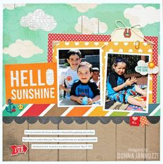 Layout by design team member Donna Jannuzzi, using our I Heart Summer collection