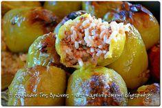 Γεμιστά, πιπεριές και ντομάτες με κιμά Shrimp, Meat, Food, Essen, Meals, Yemek, Eten