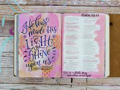 MakeWells shop and portfolio of beautiful art created by Megan Wells. Scripture Art, Bible Art, Bible Scriptures, Bible Journal, Journal Pages, Journals, Psalm 118, Psalms, Altered Composition Notebooks