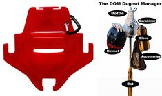 DOM 2 is stronger and a larger cup holder. Dugout Organization, Baseball Dugout, Helmet Accessories, Baseball Equipment, Softball Players, Coaching, Larger, Red, Training