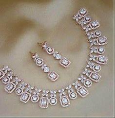 Diamond Necklace Set, Diamond Pendant, Diamond Jewelry, Diamond Choker, Gold Jewellery, Jewlery, Fine Jewelry, Gold Necklace, American Diamond Jewellery