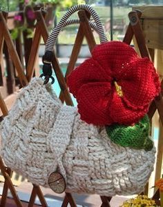 Crochet Pattern  Hibiscus Purse by OnceUponAPoodle on Etsy, $7.95