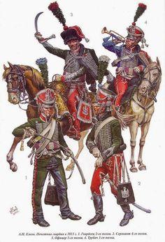 Cavaliere, ufficiale, tromba e cavaliere della guardia d'onore
