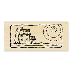 Reminds me of a Van Gogh star...  Stampendous Stamps » Woodmounted Rubber Stamps » Travel » Villa Scene