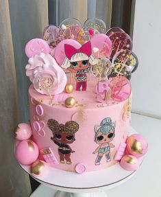 New Birthday Surprise Kids Funny Ideas Doll Birthday Cake, Funny Birthday Cakes, Birthday Cakes For Women, Birthday Cupcakes, Funny Cupcakes, Birthday Surprise Kids, Surprise Cake, Lol Doll Cake, Beautiful Birthday Cakes