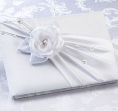 White Rose Wedding Guest Book