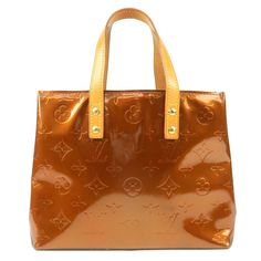 LOUIS VUITTON Monogram Vernis Lead PM Hand Bag Bronze M91146 Used F/S