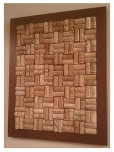 How to make a wine cork cork board!  www.muchadoaboutsomethin.blogspot.com