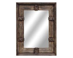Quality Ranch, Cabin, Southwest and Rustic Western Elm Furniture Industrial Mirrors, Rustic Mirrors, Wood Mirror, Rustic Walls, Rustic Wood, Decorative Mirrors, Wall Mirrors, Barn Wood Frames, Wood Picture Frames