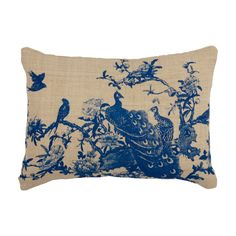 Hemp Bird Print Cushion