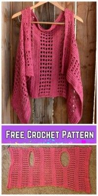 Crochet XOXO Summer Vest Free Crochet Pattern Crochet XOXO Summer Vest Free Crochet Pattern The post Crochet XOXO Summer Vest Free Crochet Pattern appeared first on Fashion Ideas - Fashion Trends. Crochet XOXO Summer Vest Free Crochet Pattern - I really l Cardigan Au Crochet, Gilet Crochet, Crochet Vest Pattern, Crochet Jacket, Crochet Shawl, Knitting Patterns, Knit Crochet, Crochet Patterns, Free Pattern