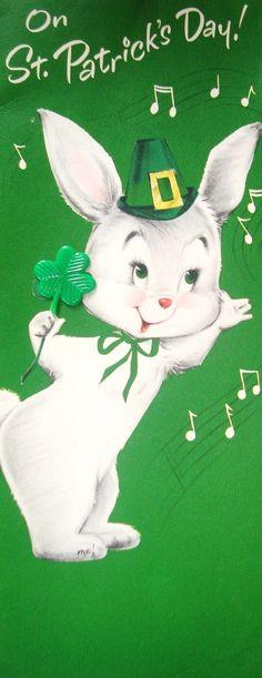 Vintage St Patricks Day card)