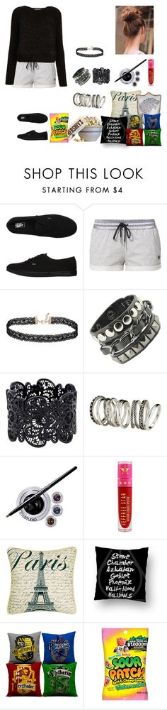 """Movie Night"" by jazmine-bowman on Polyvore featuring Vans, adidas Originals, Miss Selfridge, H&M, Maybelline, Jeffree Star, Waring, Hershey's and Topshop"
