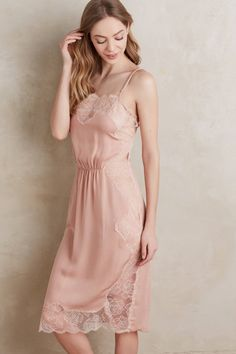 Rose Lace Silk Slip