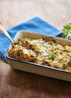 Caramelized Cauliflower and Mushroom Casserole- Absolutely Delicious! Can't wait to make it for company.