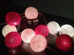 Pink String Lights Cool Pink Tone Cotton Balls String Lights Via Httpwwwchainupon Review