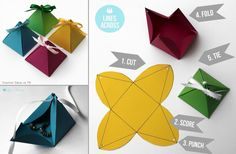 Make paper gift boxes!!