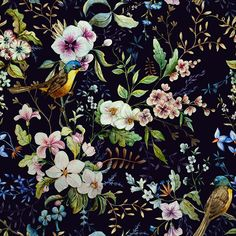 pattern with a bird on Behance
