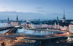 Indir duvar kağıdı Stockholm, şehir, akşam, bahar, cadde, İsveç