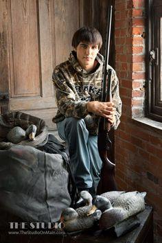 ©The Studio • La Crosse, WI www.TheStudioOnMain.com  Boy • Senior • Pictures • Portraits  Hunting