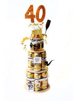Verjaardags cadeau idee. Biertaart 40 jaar. Amstel 4.0 en Corona!
