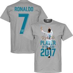 Ronaldo Player Of The Year 2017 T-Shirt - XXXL Real Madrid Crest, Real Madrid Players, Ronaldo, Fifa, Mens Tops, T Shirt, Products, Supreme T Shirt, Tee Shirt