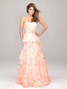 A-line Chiffon Sweetheart Natural Waist Floor-Length Zipper Sleeveless Beading Ruching Ruffles Peplum Evening Dress
