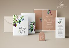Motyw Toskanii - papeteria ślubna zaproszenia ślubne // Tuscany wedding stationery theme, rustical wedding invitations, italy olive inspirations color palette  http://najpiekniejsze-zaproszenia.pl/motyw-toskanii/