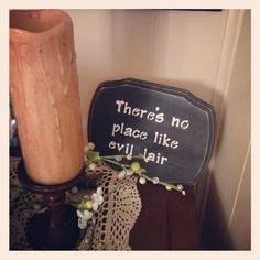There's no place like evil lair. Megamind quote DIY sign.