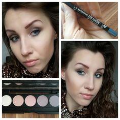 E-style make-up witj blue eyeliner