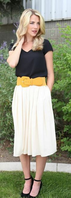 New! Cotton Pleated Skirt in cream: http://www.modestpop.com/collections/skirts?page=4
