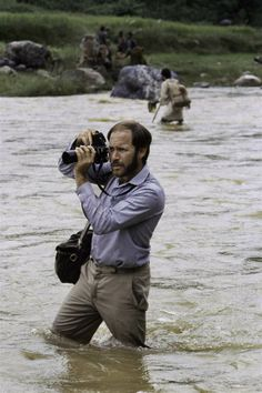 McCurry taking photos in Nepal after a monsoon.