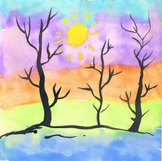 Art Projects for Kids: Thick and Thin Trees