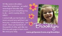 Our purple cards tell her story....at times when I can't!