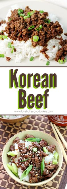 Korean Beef ~ this popular recipe is perfect for a quick, easy and flavorful dinner...serve it over rice or in lettuce leaves for a meal the entire family will love!