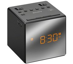 SONY  ICFC1TB Analogue Clock Radio - Black, Black Price: £ 27.99 The contemporary Sony ICFC1TB Analogue Clock Radio boasts an analogue radio, powerful speakers and a range of useful alarm features. Dual alarms Thanks to the Dual Alarm function both you and your partner can benefit from the Sony ICFC1TB Clock Radio . Set it to go off at separate times if need and choose between a traditional...