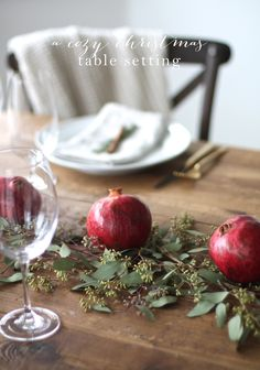 Comfort + Joy | A Christmas table setting you can create in less than 10 minutes along with Christmas entertaining tips from Julie Blanner