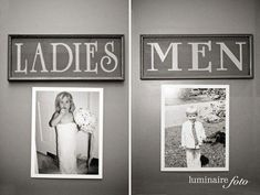 Cute signs of the bride and groom to hang on the bathroom doors to make the guests laugh :) @ Wedding Day Pins : You're Source for Wedding Pins!Wedding Day Pins : You're Source for Wedding Pins! Wedding Pins, Wedding Wishes, Wedding Blog, Wedding Planner, Our Wedding, Dream Wedding, Wedding Details, Wedding Pictures, Trendy Wedding