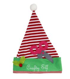 fb8b08287444d Maker s Holiday Santa Hat-Crafty Elf Elf Hat