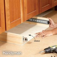 How to Build Under-Cabinet Drawers & Increase Kitchen Storage - Step by Step: The Family Handyman-Want this for the base of the new kitchen cabinet.